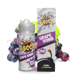 Grape Bomb - K-Boom - Special Edition - 10ml Aroma in 120ml Flasche